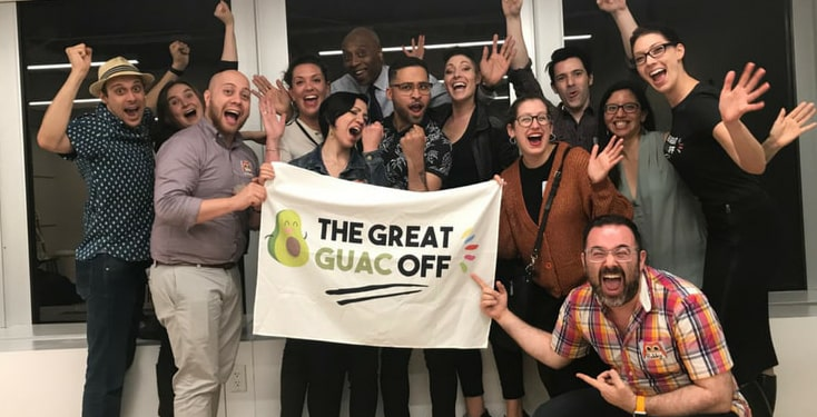 The Great Guac Off is the best team building activity in San Antonio.